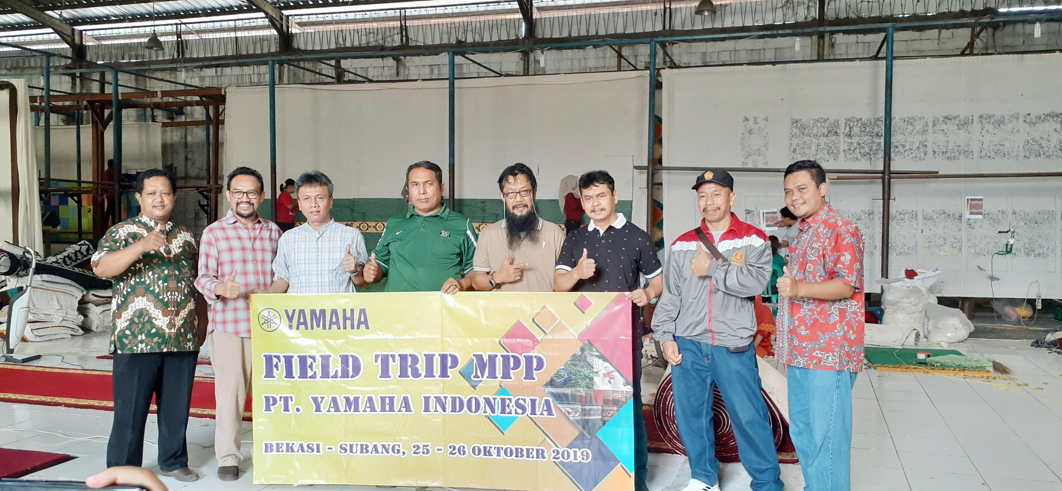 Kunjungan Peserta MPP(Masa Persiapan Pensiun) Dari PT. Yamaha Indonesia Ke Pabrik HJ Karpet