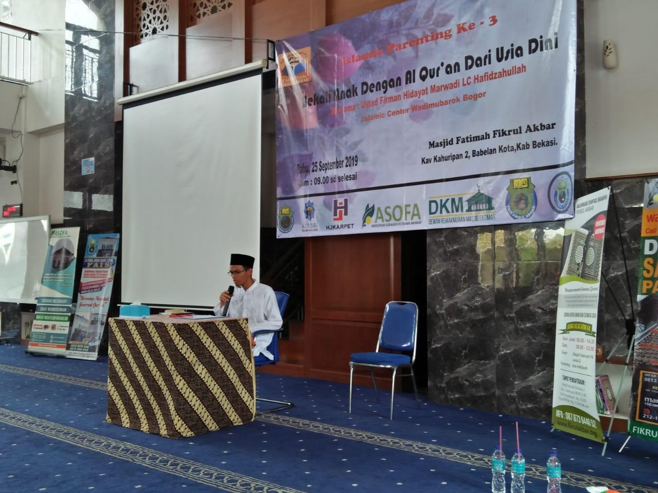 Islamic Parenting Ke-3 Di Masjid Fatimah