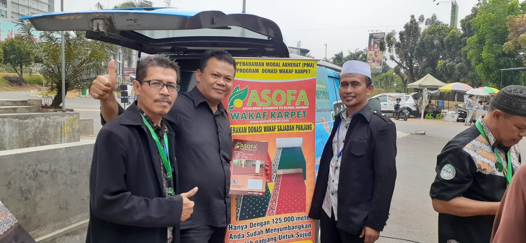 Tim Asofa Mengadakan On Table Atau Stand Perdana Untuk Program Wakaf Karpet Di Masjid Islamic Centre Bekasi
