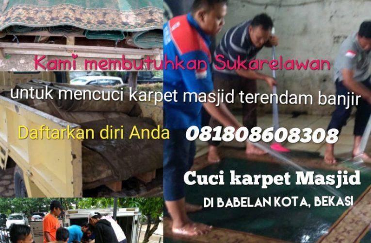 Dibutuhkan Sukarelawan Untuk Cuci Karpet Masjid Yang Terendam Banjir