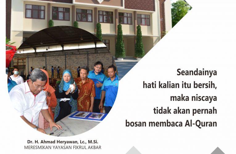 Latar Belakang Pembangunan Tahfidz Building TKIT Fikrul Akbar