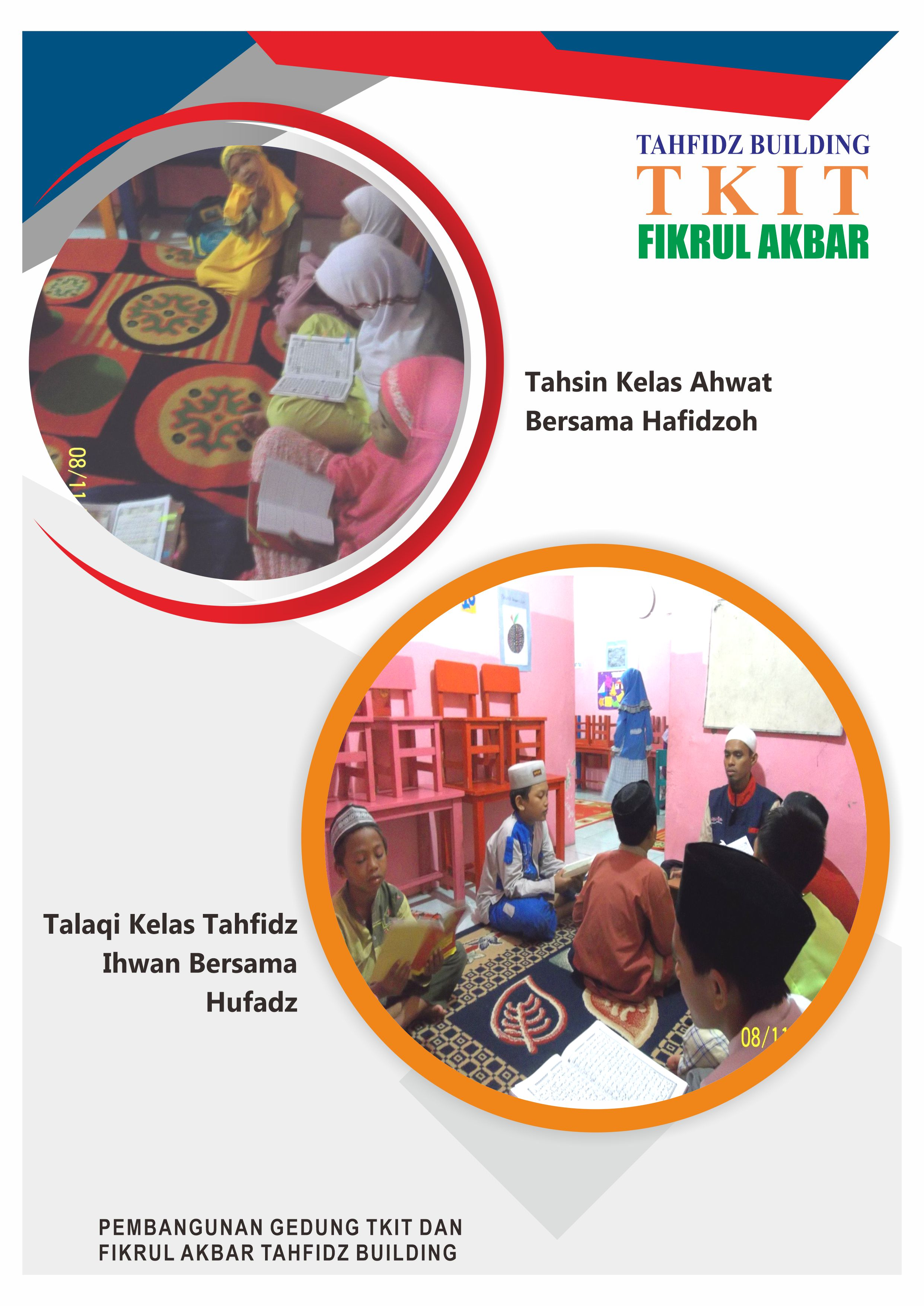 Pelatihan Kelas Tahsin Ahwat bersama Hafidzoh dan Kelas Tahfidz Ihwan Dibimbing Para Hufadz Building TKIT Fikrul Akbar